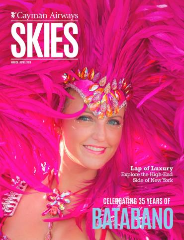 Cayman Airways Skies March April 2018
